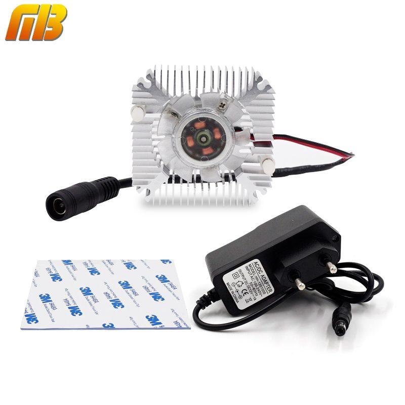 [MingBen] 1 Unidades Alta calidad 55x55x12mm radiador con ventilador disipador De Aluminio Extruido perfil disipador de calor para la disipación de calor