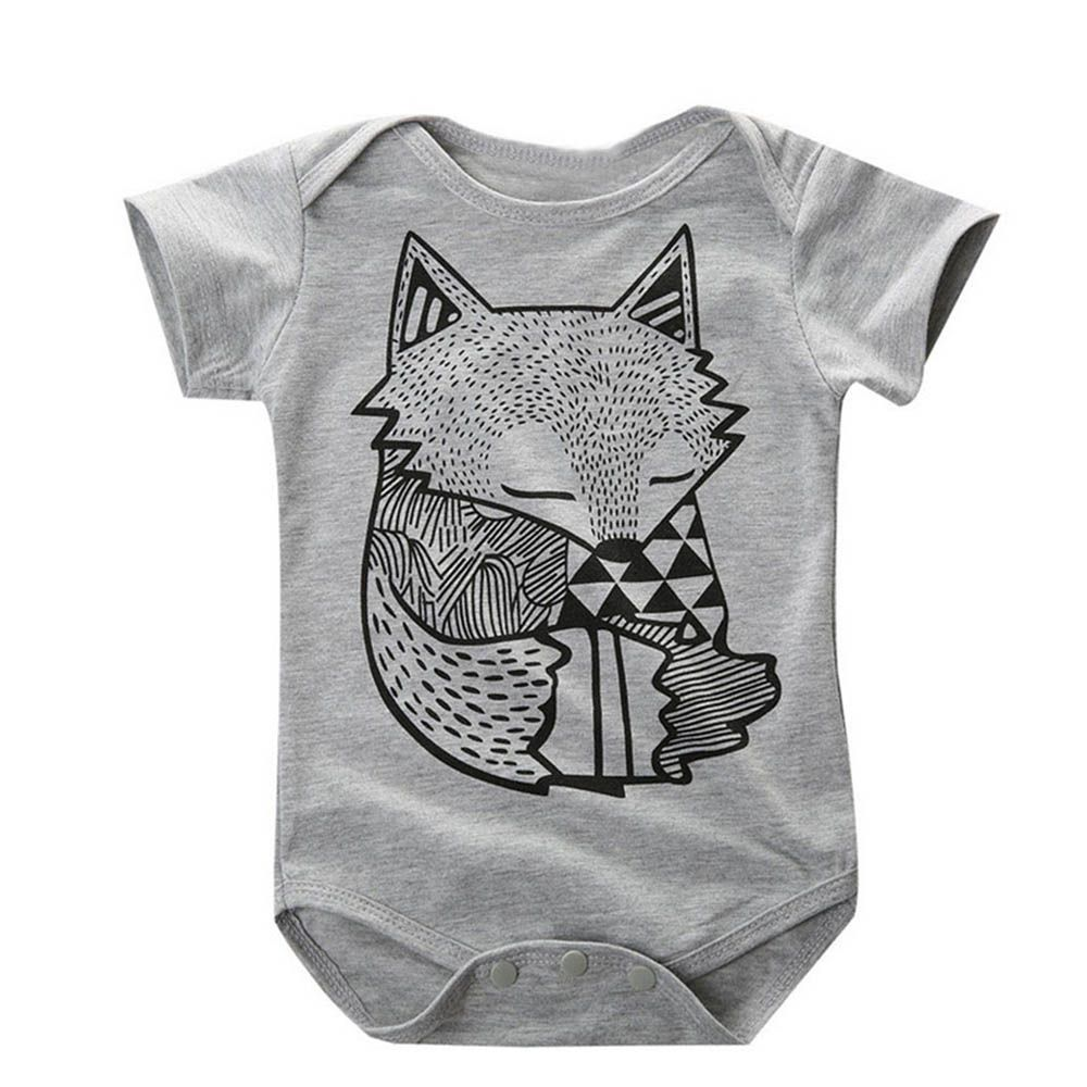Мультфильм Хлопок детские ползунки для новорожденных Короткий рукав для маленьких мальчиков одежда комбинезон для новорожденных Слитные ...