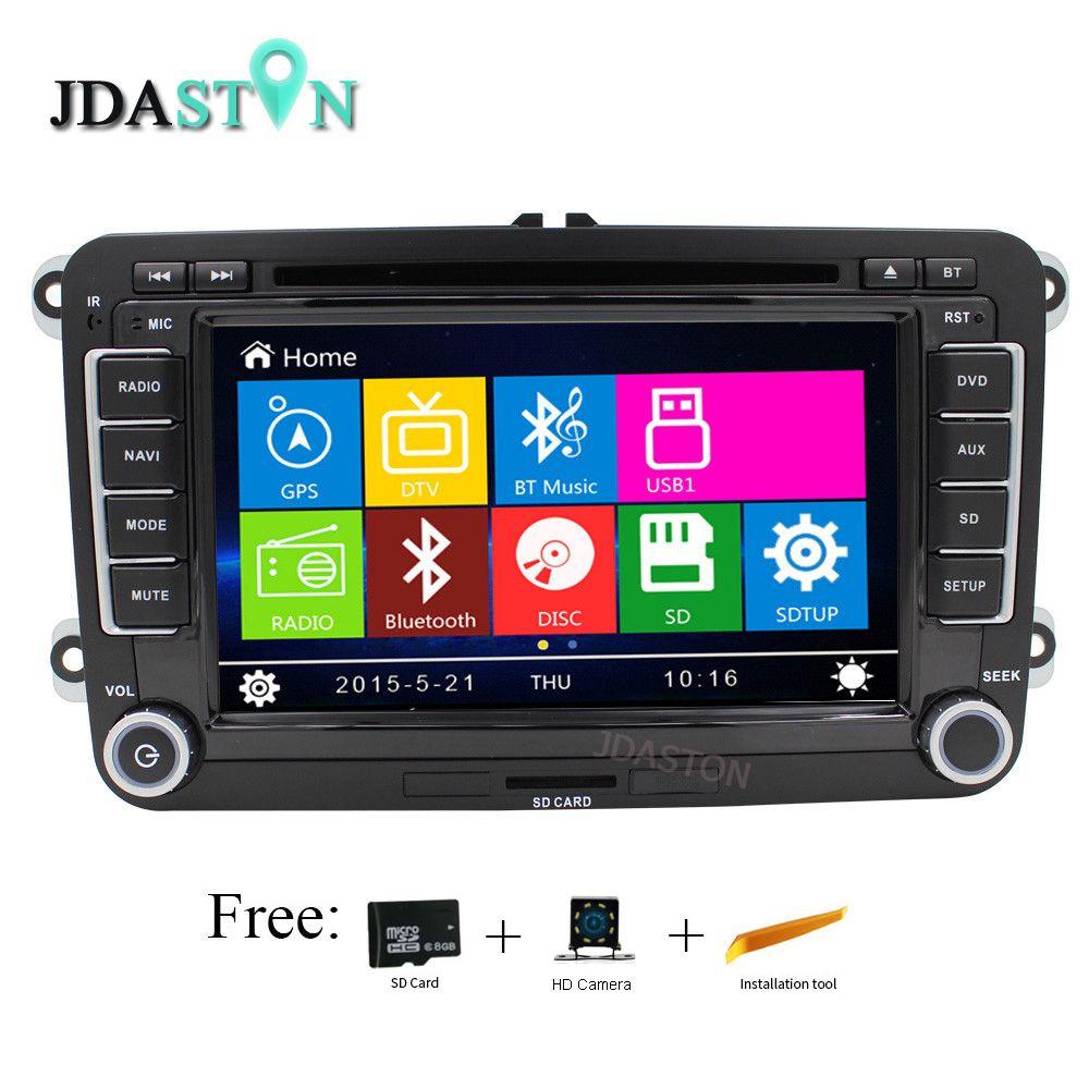 JDASTON Wince Auto DVD Player Für VW VolksWagen Jetta Sagitar Caddy Touran madotan Bluetooth Radio RDS GPS Navigation Telefonbuch