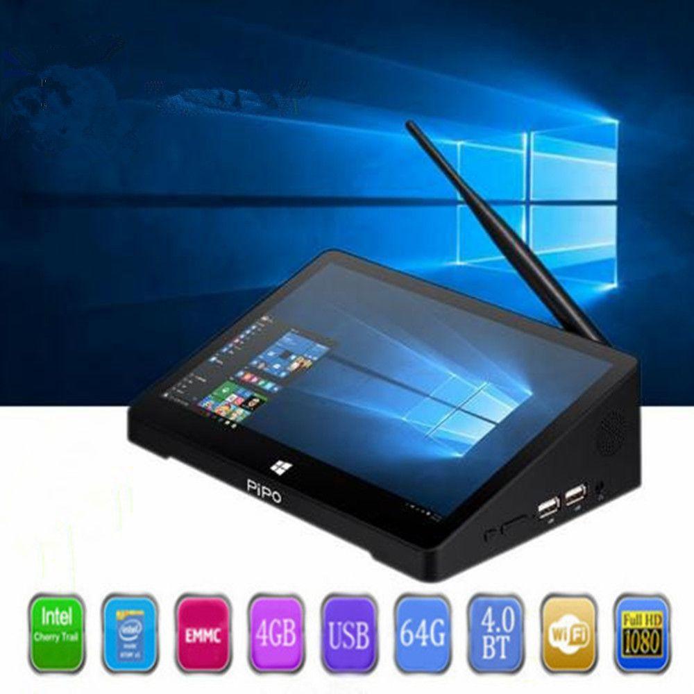 PIPO X10 pro Mini PC Windows 10 & Andriod 5,1 Mini PC Intel Kirsche Trail Z8350 4g 64g 10,8 zoll Tablet PC 2,4g WiFi Media Player