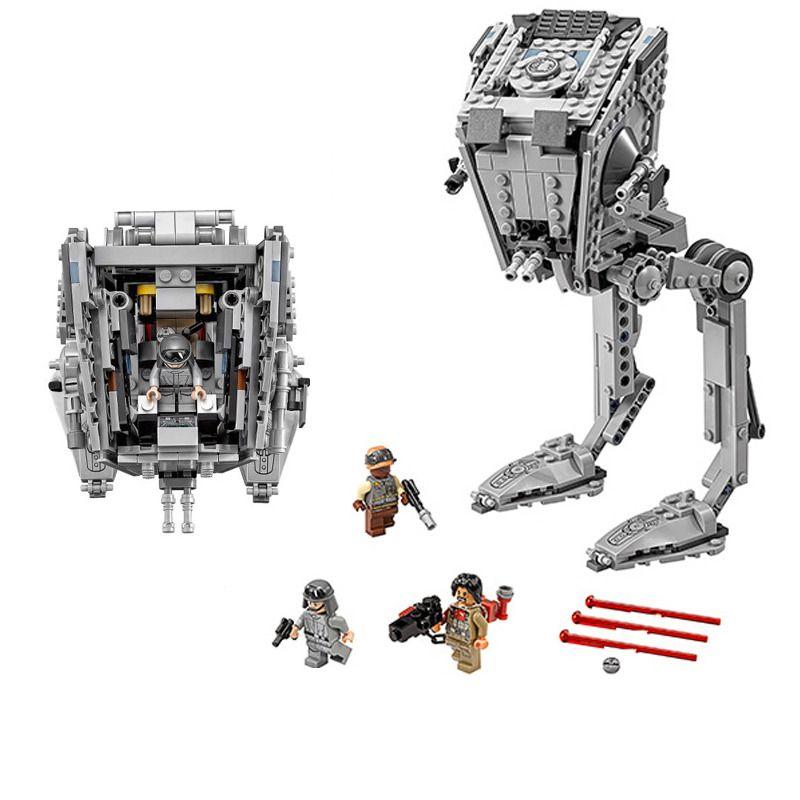 LOZ 471Pcs Star Series War The Rogue One AT-ST Set Walker Educational Building Blocks Bricks Compatible with legoINGly Starwars