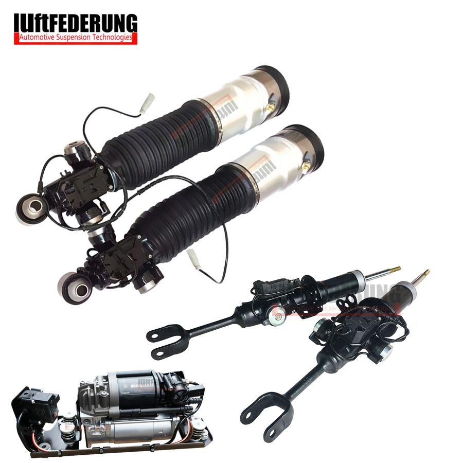 Luftfederuhhng 2pcs Front Shock 2pcs Rear Air Ride 1pc Air Pump Fit BMW F01 F02 37126791929(30) 37116850221(222) 37206864215