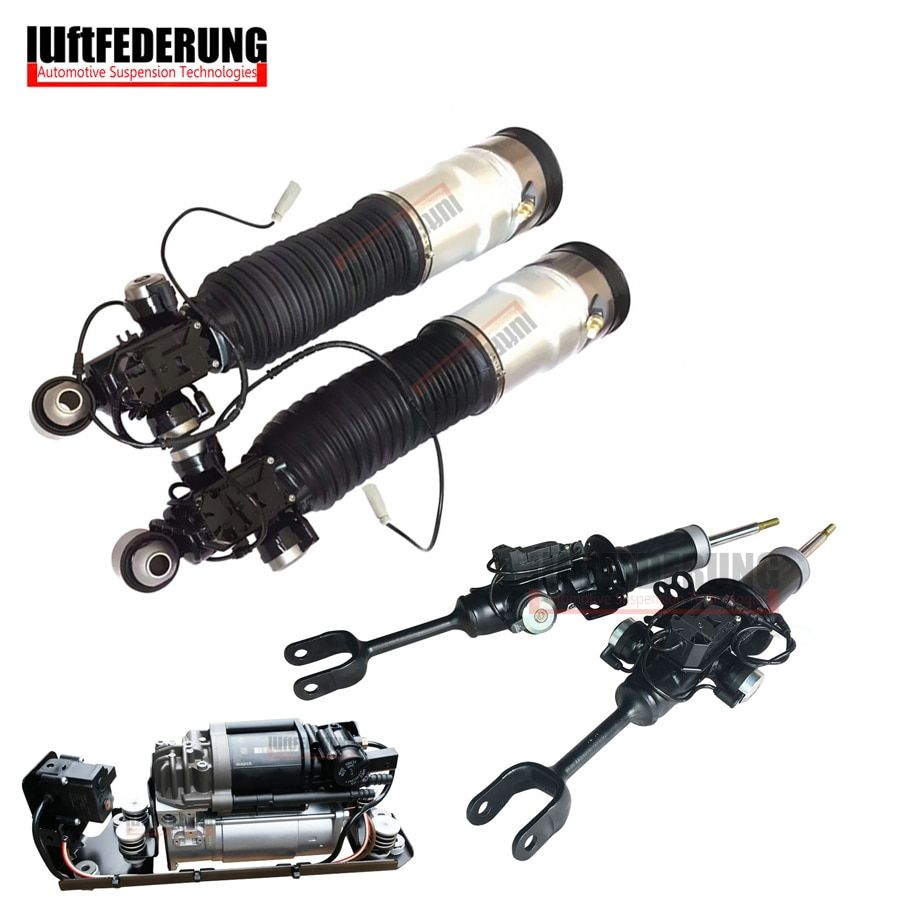 Luftfederuhhng 2pcs Front Shock 2pcs Rear Air Ride 1pc Air Pump Fit BMW F01 F02 37126791929(30) 37116850221(222) 37206864215