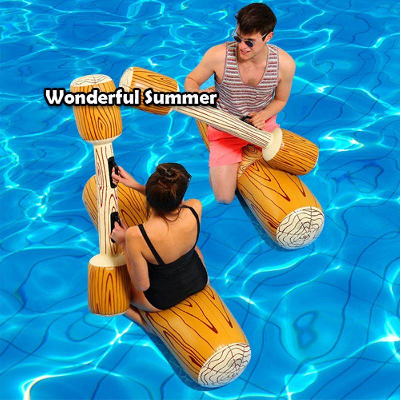 4 Teile/los Turnier Pool Schwimmen Spiel Aufblasbare Wasser Sports Auto Spielzeug Für Erwachsene Kinder Party Gladiator Floß Kickboard Piscina