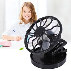 Electric Mini Clip-on Solar Fan Air Conditioner Cooling Cell Fan for Travel Camping Hiking Cooling Outdoor Fishing Air Cooler