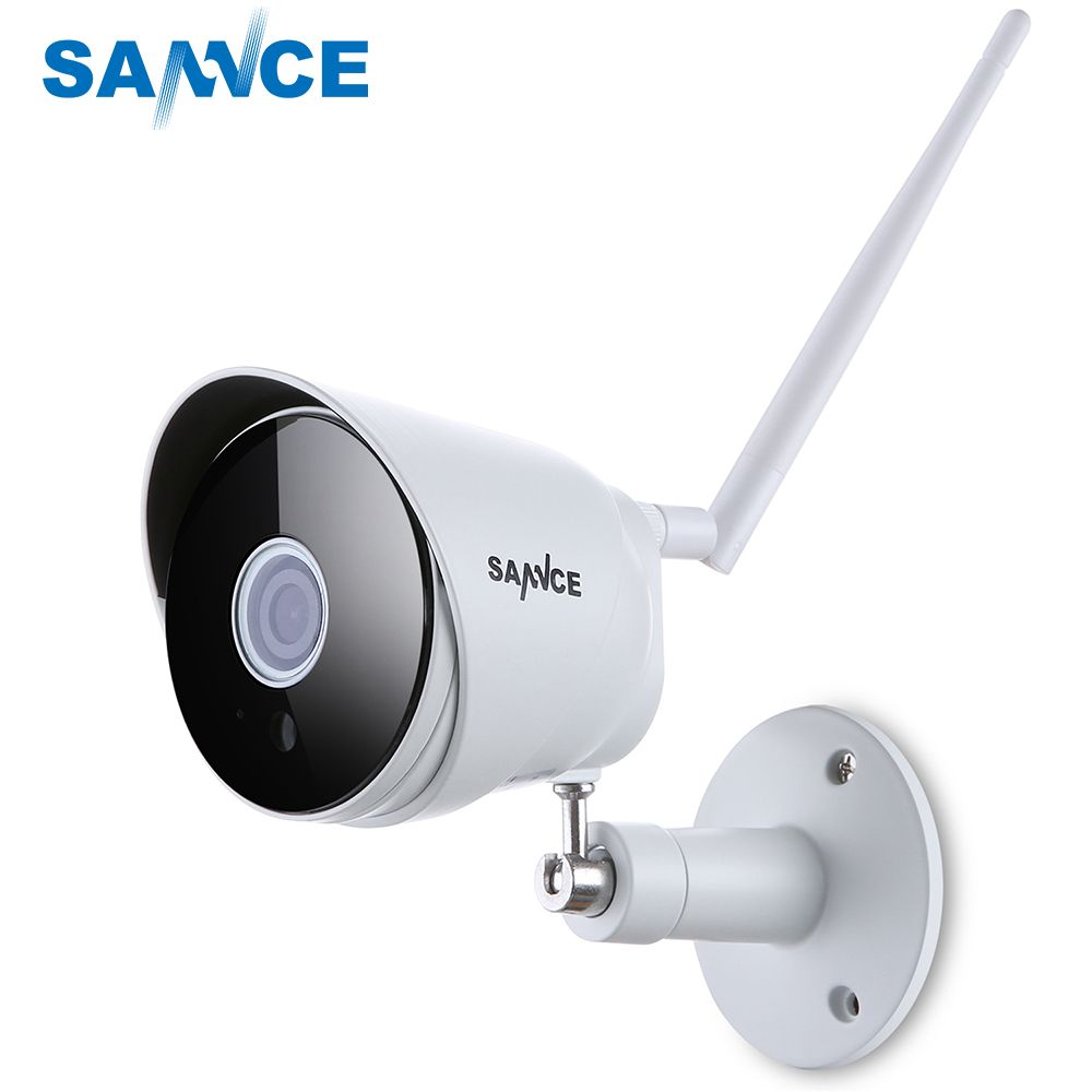 SANNCE HD 1080P IP Camera Wireless Wifi Bullet Camara Outdoor Waterproof Night Vision IR Cut <font><b>Onvif</b></font> P2P Home Security Camara 2018
