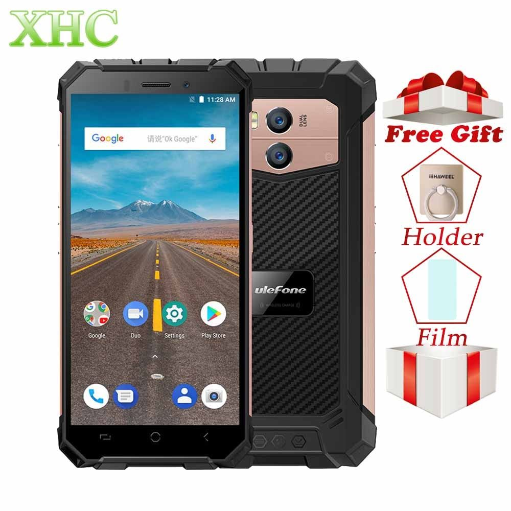 Ulefone Armor X IP68 Waterproof Smartphone 5.5 Quad Core Android 8.1 RAM 2GB ROM 16GB NFC Face ID Wireless Charge Mobile Phones