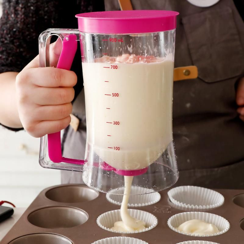 900ml Creative ABS Batter Separator Manual Easy To Operate DIY Cake Dough Batter Dispenser Baking Pastry Kitchen Mixing Tools