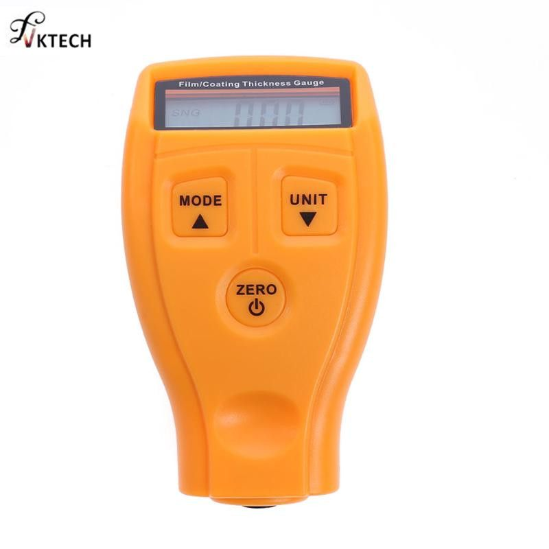 GM200 Coating Painting Thickness Gauge Tester Ultrasonic Film Mini Coating Car Paint Thinner Gauge <font><b>Tools</b></font> English Russian Manual