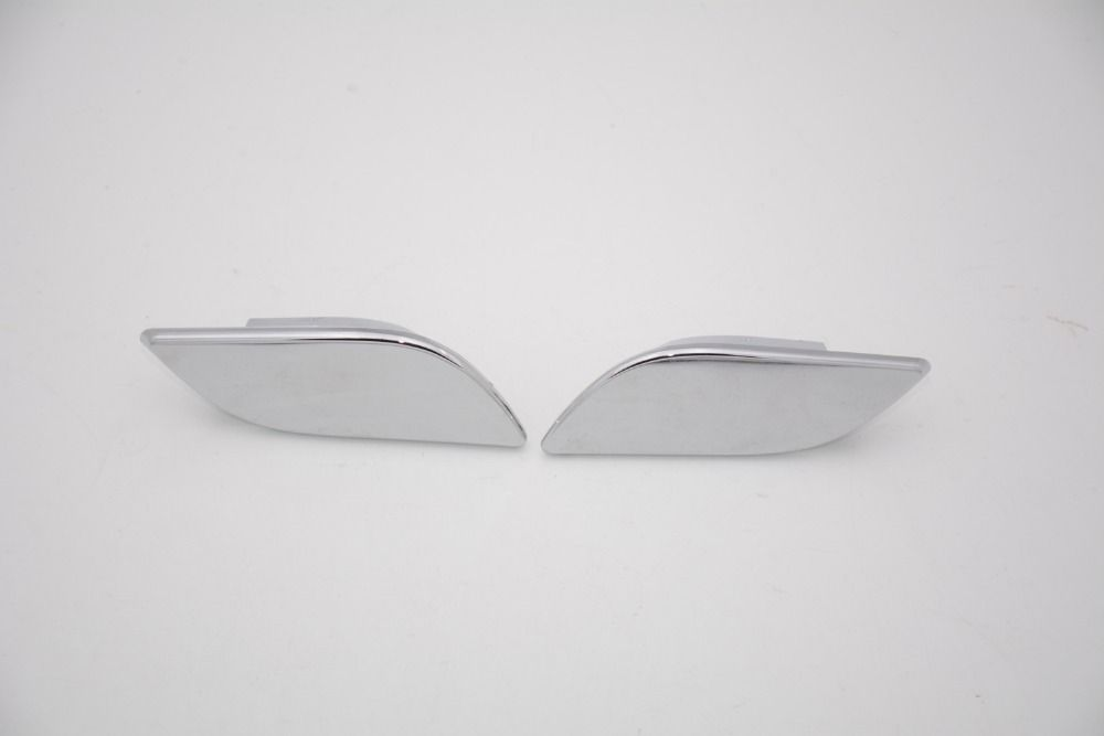 1Pair Front Bumper Headlight Washer Covers Caps for Skoda Superb 2009-2013