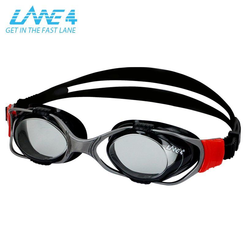 LANE4 beweglichen objektiv professionelle rezept schwimmen brille erwachsenen männer brillen für adultmen, spiegel und anti-fog A345