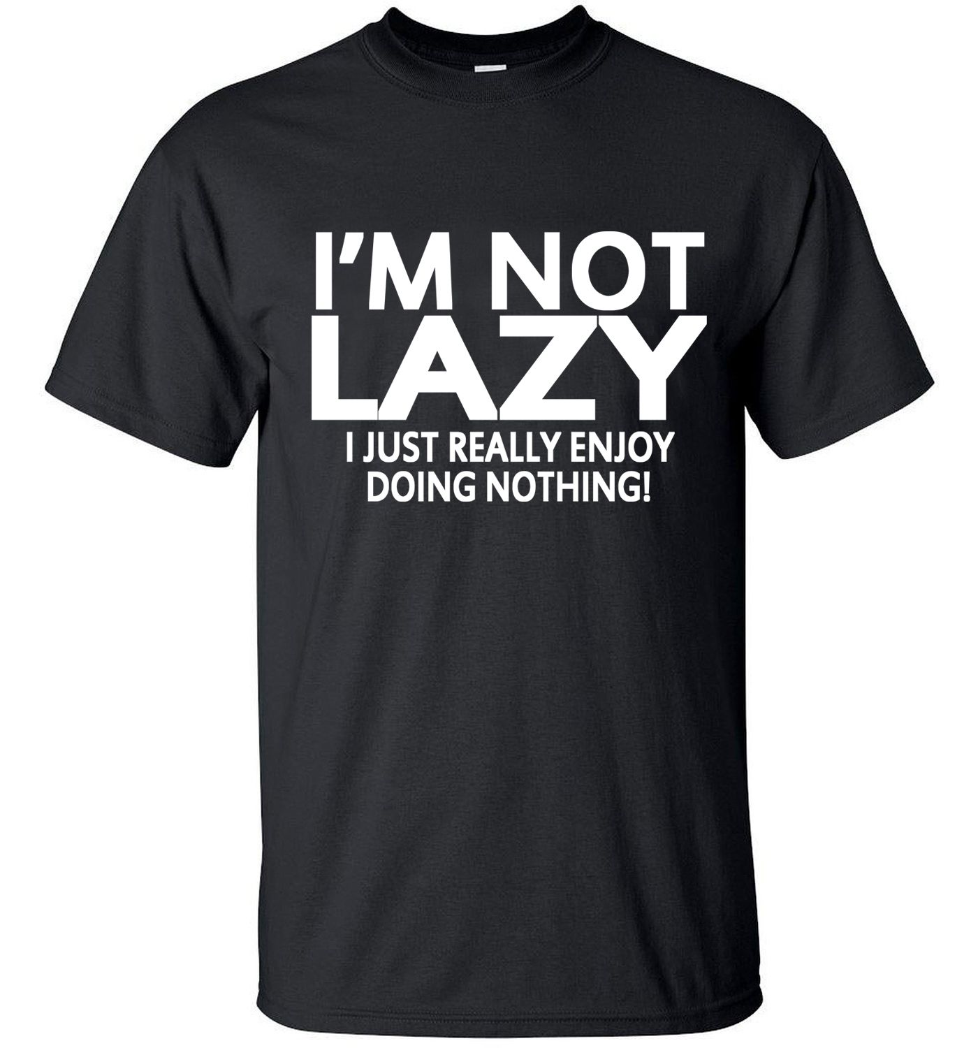 Men short sleeve T-Shirt 2017 i'm not lazy i just enjoy doing nothing streetwear hip hop funny t shirt  Tops Tees homme