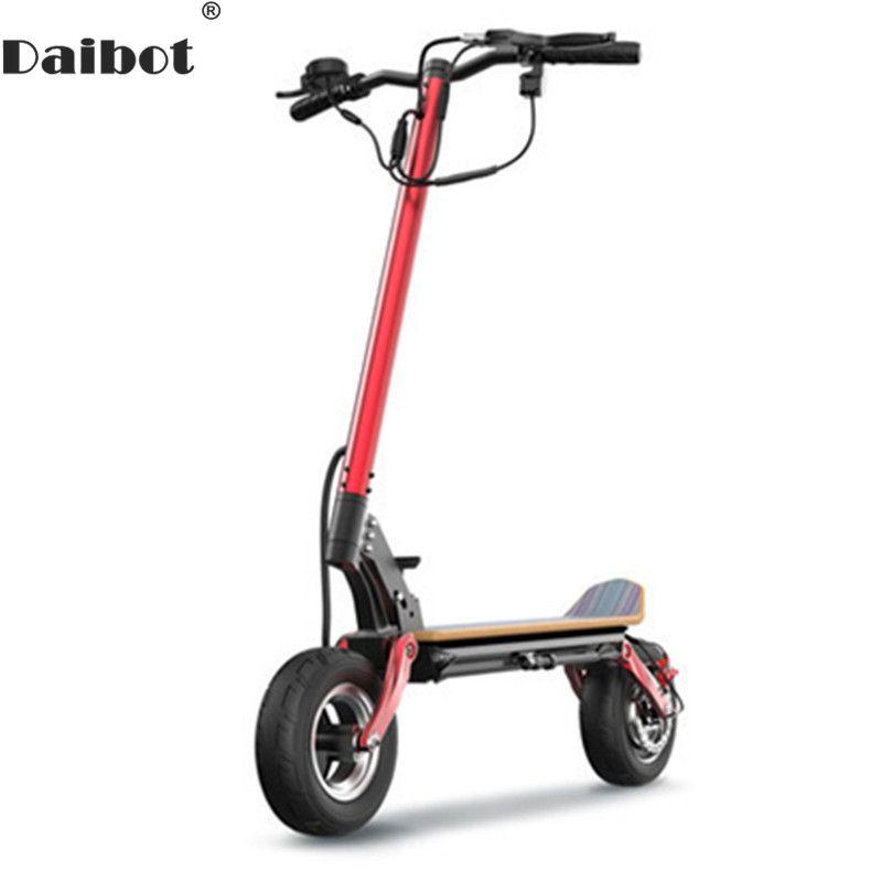 Daibot Elektrische Roller Off Road 10 Zoll Elektrische Roller Bürstenlosen Motor 500 W 48 V Folding Elektrische Tretroller Für erwachsene