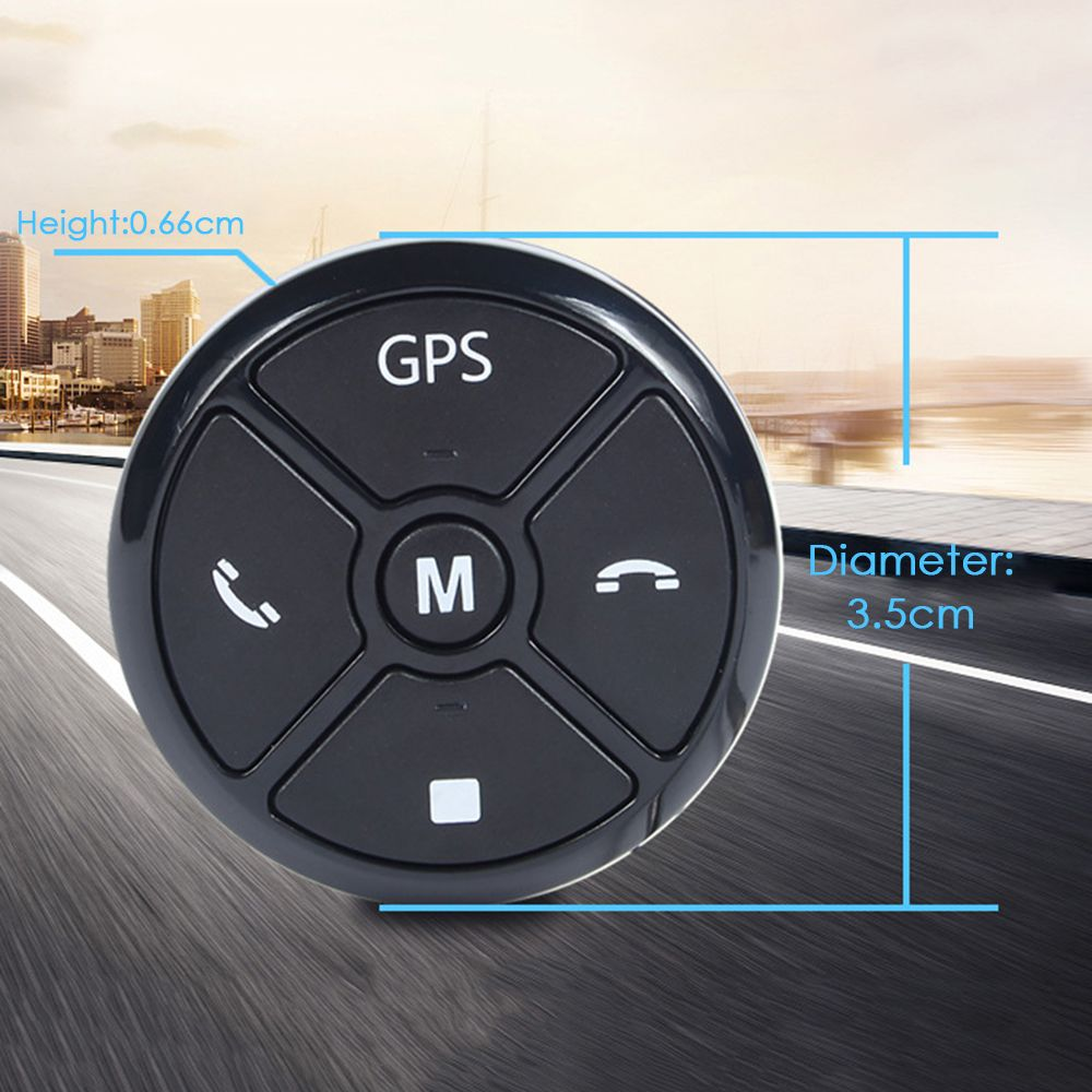 Car Smart Steering Wheel Controller Wireless Universal Multifunctional DVD Navigation Button Key Remote Control