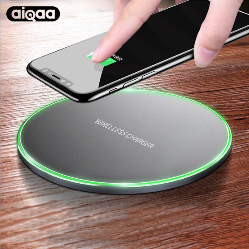 Aiqaa 10 Watt Qi Wireless-ladegerät Für iPhone 8/X Schnelle Drahtlose lade für Samsung S8/S8 +/S7 Rand Nexus5 Lumia 820 Usb-ladegerät Pad