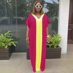 2018 Baru Fashion Elastis Gaun untuk Wanita/Wanita Elegan Elastis Gaun Gaun Afrika-2890