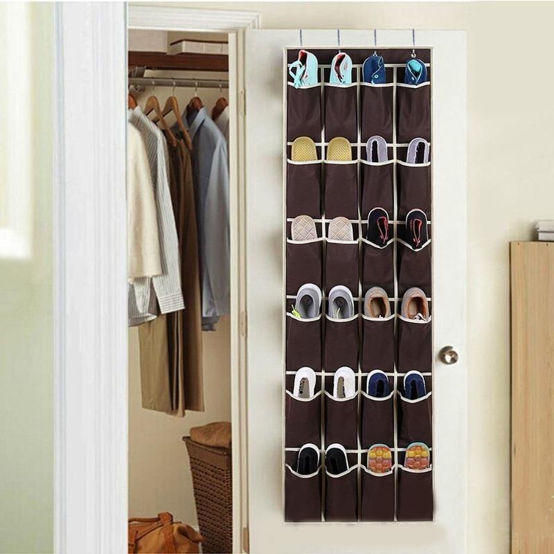 20 Pockets Shoe Organizer Door Wall Shoes Organizer Space Saver Rack Non-Woven Wardrobe Closet Hanging Storage Bag