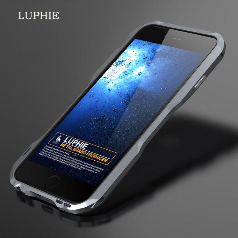 Pour iPhone 7 6 s Luphie mince En Métal Pare-chocs de téléphone étui pour iPhone 7 8 Plus X En Aluminium Cadre Pare-chocs Housse XS Max