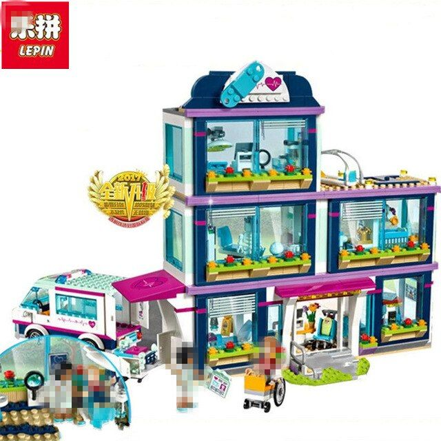 Lepin 01039 und 41318 Herz See Liebe Krankenhaus MiniBricks Mädchen Freunde Serie Set Verkauf Bausteine Spielzeug Für Kinder