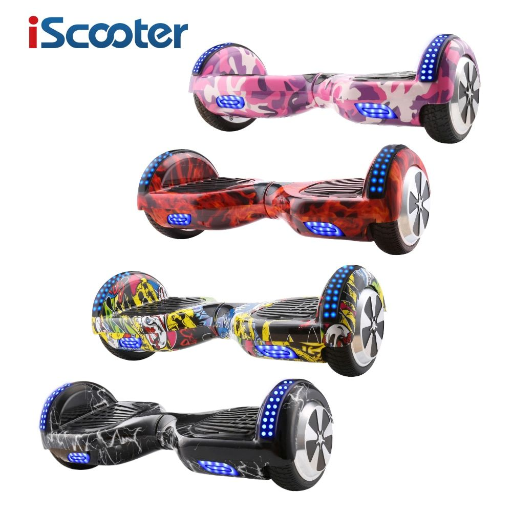 iScooter Hoverboard 6.5 inch Bluetooth and Remote Key Two Wheel Self Balance Electric Scooter Skateboard Electric Hoverboard