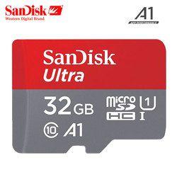 Оригинальная карта памяти sandisk Micro SD карта, 32 ГБ оперативной памяти, 16 Гб встроенной памяти класса 10 MicroSDHC 64 Гб 128 256 SDXC UHS-I TF устройство для чтен...
