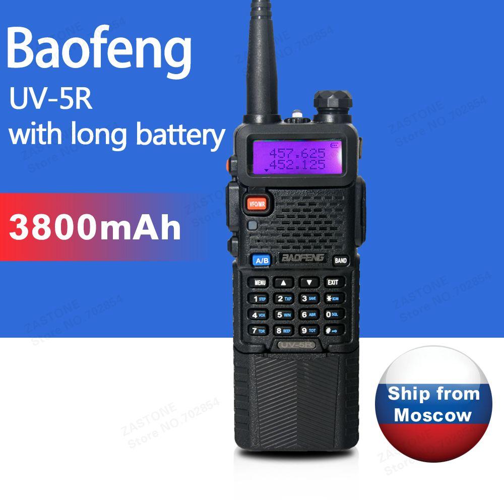 Baofeng UV-5R 3800 Walkie Talkie 5W Dual Band Radio UHF 400-520MHz VHF 136-174MHz Two Way Radio portable Walkie Talkie CB radio