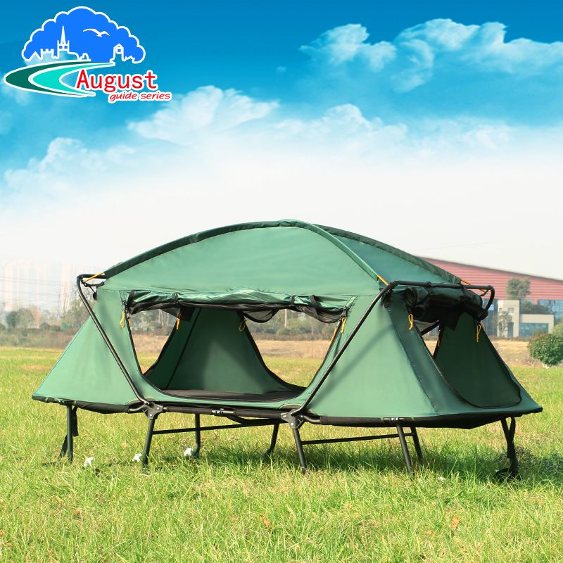 Outdoor extravagant double person waterproof high quality with folding bed automatic fishing tent