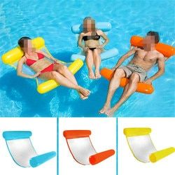 130*73cm Folding lounge chair floating Inflatable Ride-ons Water Swimming Toy for Adult Pool Rafts Swimming Inflatable Toys Gift