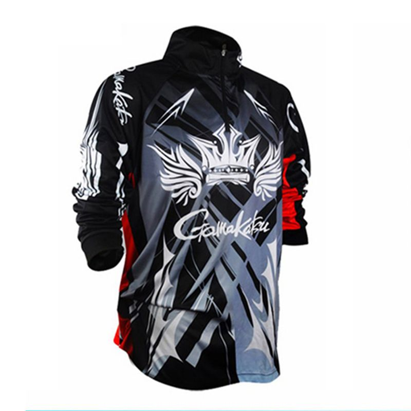 2018 Brands Men Fishing Clothes Sport Outdoor Long Sleeve Profesional Quick Dry Sun Protection Breathes Fishing Shirt BGVR5-08