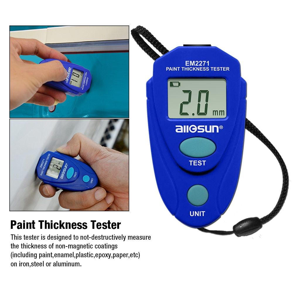 EM2271 Thickness Gauge Digital Coating Thickness Car Painting Meter paint thickness meter Russian manual <font><b>ship</b></font> from Russia