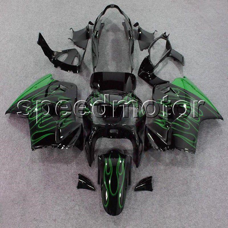 Custom+23Colors! green flames ABS motorcycle Fairings for Honda 98 99 00 01 VFR 800 Interceptor VFR800 1998 1999 2000 2001