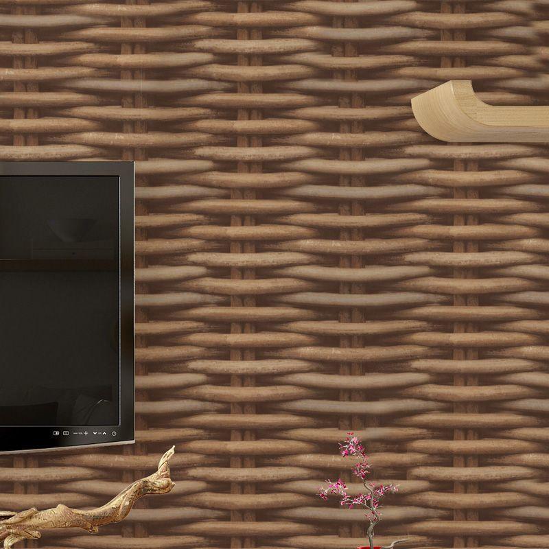 Chinese Style 3D Simulation Rattan Wallpaper For Walls Roll Living Room Restaurant Study PVC Vinyl Wallpaper Papel De Parede 3D