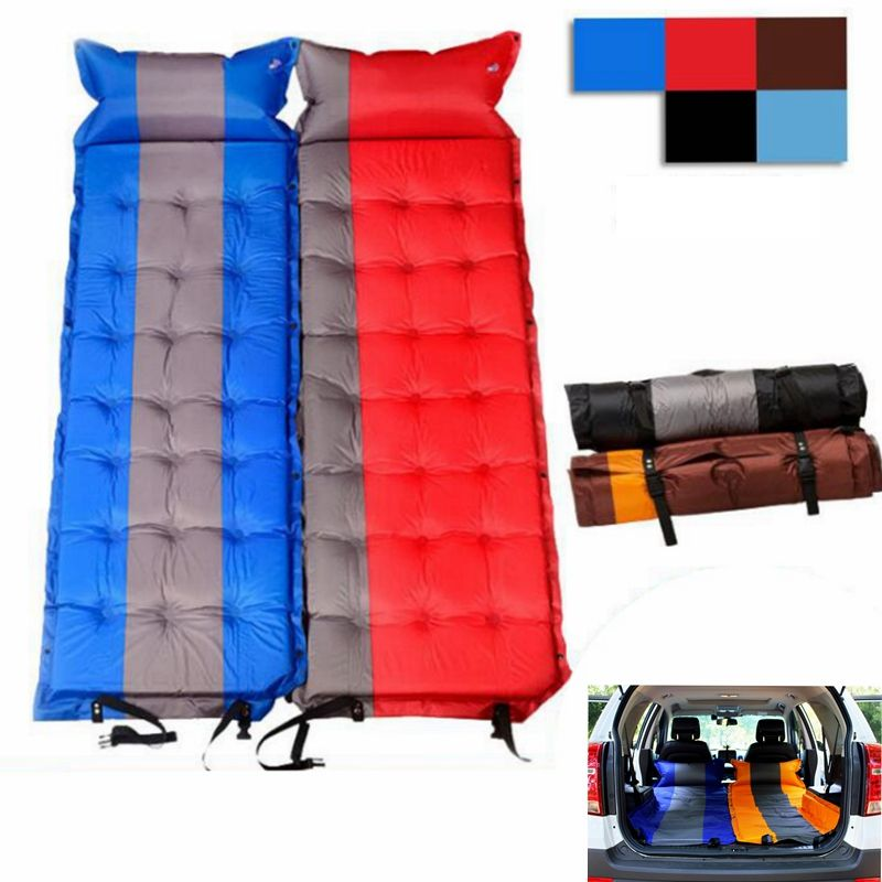 Inflatable Moisture-proof Pad With Pillow Ultralight Portable Air Mattress Outdoor mat car travel bed Automatic air Universal
