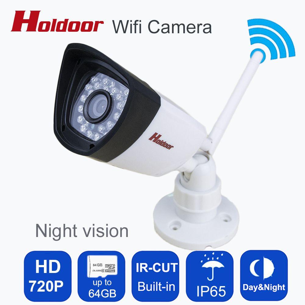 Wifi 720 p caméra mini Bullet Étanche Nuit Vision Sécurité Extérieure caméra ONVIF P2P CCTV Cam avec Ir-cut 64G TF carte slot