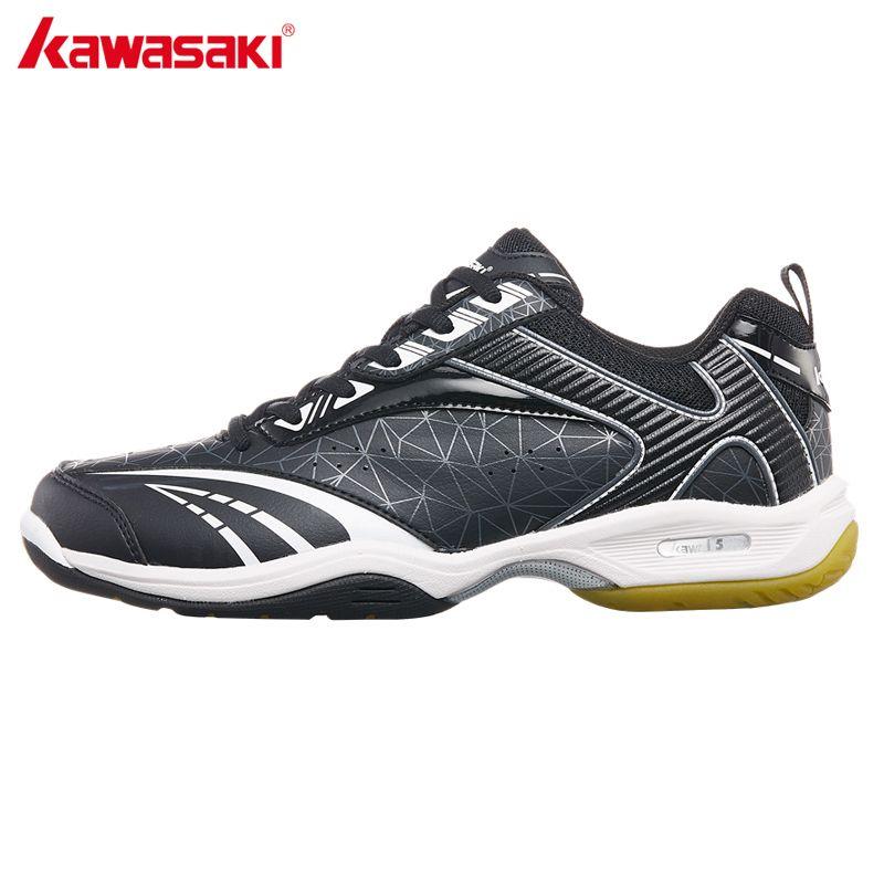2018 NEUE Kawasaki Turnschuhe Professionelle Badminton Schuhe Indoor Gericht Sport Schuh Schwarz Anti Rutschigen Encapsulated Licht K-155