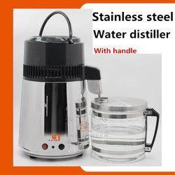 Ménage En Acier Inoxydable distillateur D'eau purificateur d'eau avec bocal en verre et en acier corps Portable distillateur d'eau CE certificat