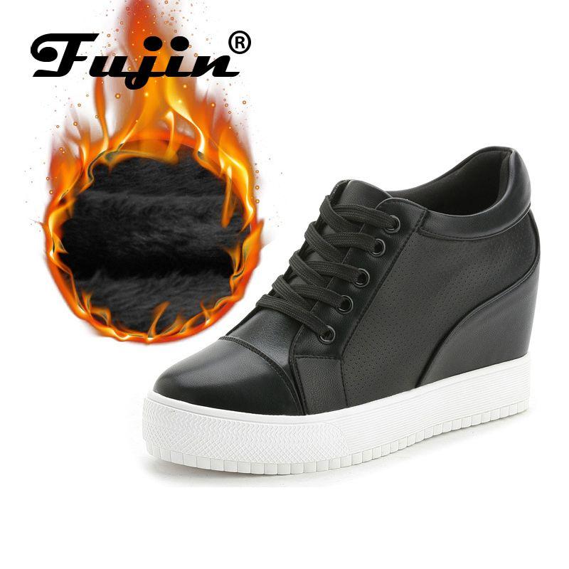 Фуцзинь бренд высокого качества зимние плюшевые модные Туфли-лодочки на платформе-танкетке для Для женщин Повседневное элегантная обувь н...