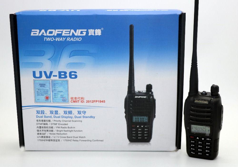 BaoFeng UV-B6 Talkie Walkie UHF VHF Double Bande UVB6 CB Radio 99CH VOX lampe de Poche FM Émetteur-Récepteur pour La Chasse Radio UV-B5 Upversion