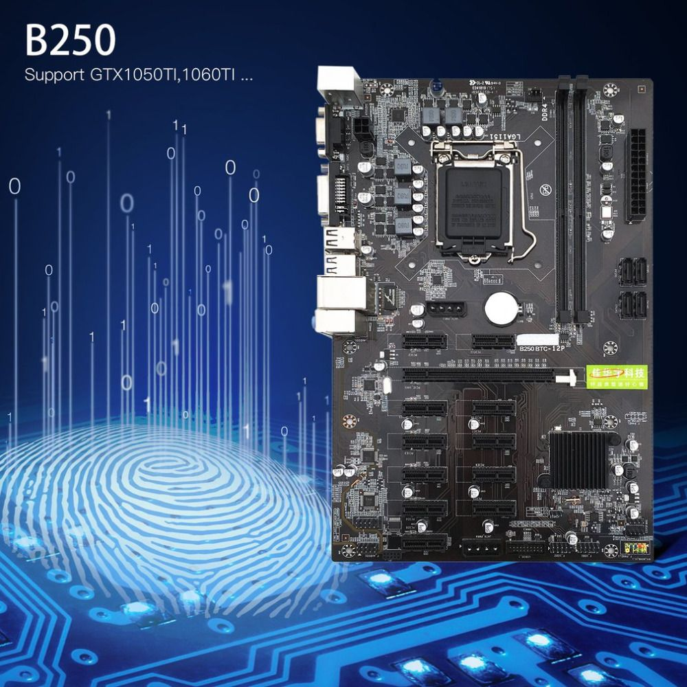 2018 B250 Supports GTX1050TI 1060TI Mining Expert Motherboard Video Card Interface Designed For Crypto Mining