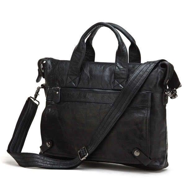 Nesitu Gute Qualität Vintage Männer Echtes Leder Aktentasche Umhängetasche Portfolio Business Reisetasche 14 ''Laptop Tasche # M7120