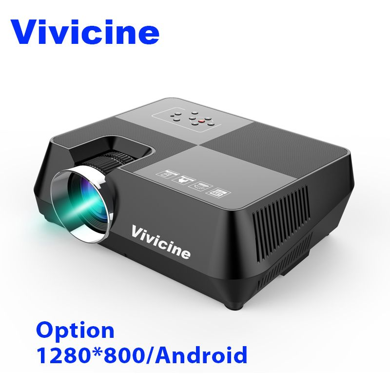 Vivicine 720 p HD Projektor, optional Android WIFI Bluetooth HDMI USB PC Mini FÜHRTE Proyector Handheld Film Beamer für Video spiele