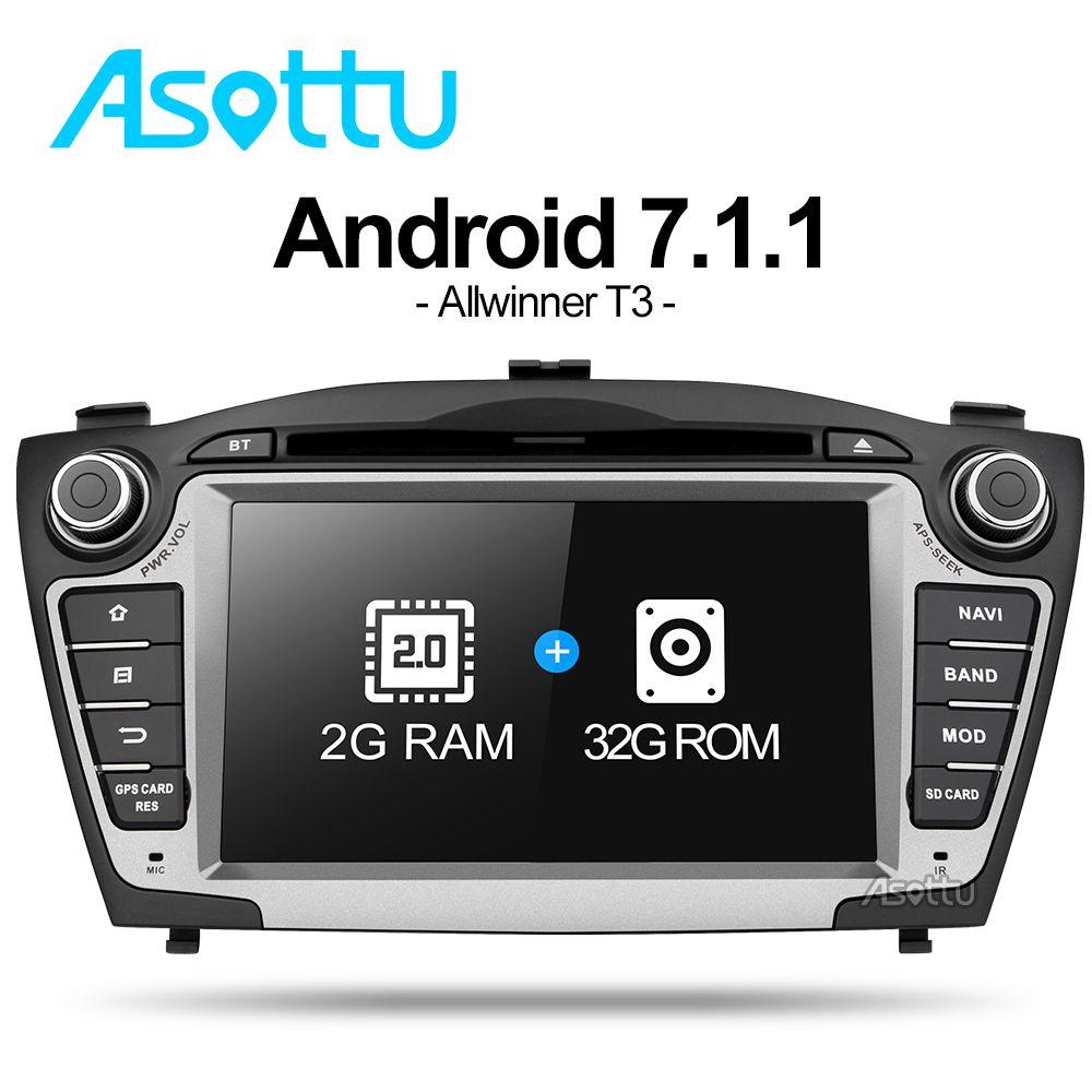 Asottu ZIX357060 Android 7.1 2G+32G for Hyundai IX35 Tucson 2011 2012 2013 gps navigation 2 din car dvd player gps radio stereo