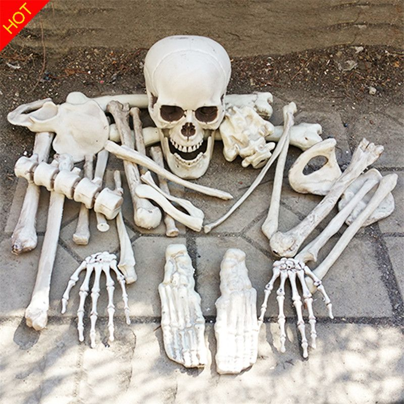 Sac d'os Halloween squelette os 28 pièces dans un sac de purée maison hantée échapper horreur accessoires décorations