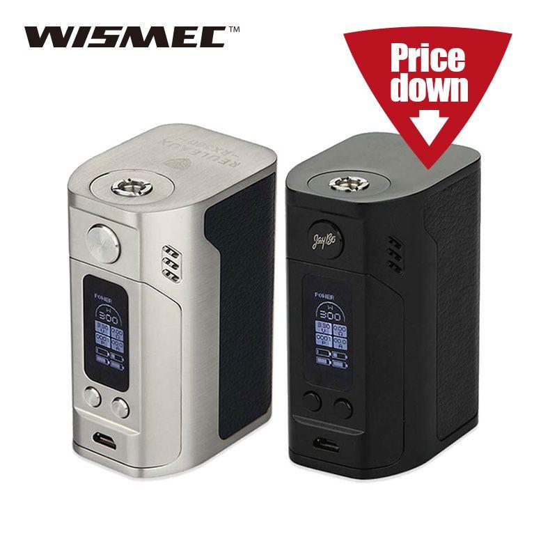 Original WISMEC Reuleaux RX300 TC/VW Mode E-cigarette Mod for 510 No 18650 Battery Huge Power Wismec RX300 vs Reuleaux DNA250