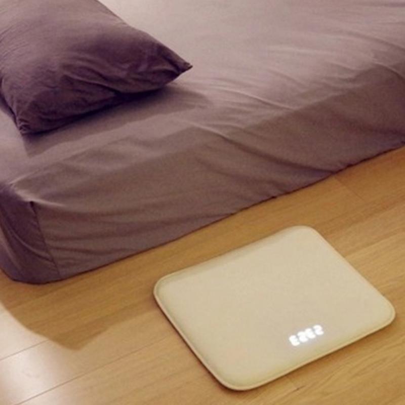 Sensible à la pression réveil Tapis horloge numérique électronique Chambre Anti-Glissement résistant À L'usure Doux Tapis Étudiant Paresseux sonnette