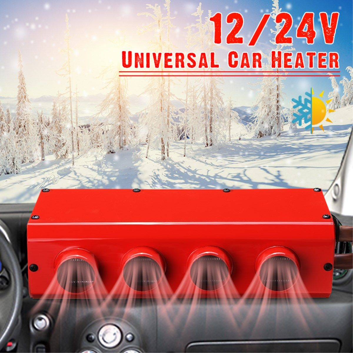 Protable Auto Heizung 12 v/24 v Geräuscharm Windschutz Fenster Fahren Defroster Demister für RV Wohnmobil Anhänger Lkw boote