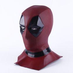 Deadpool 2 Marvel Deadpool Masker Halloween Cosplay Kostum Alat Peraga Superhero Lateks Topeng Mainan Tertagih Masker Wajah Penuh