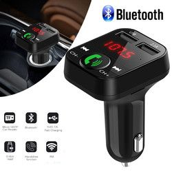 Car Kit Handsfree Wireless Bluetooth FM Transmitter LCD MP3 Player USB Charger 2.1A Hands Free