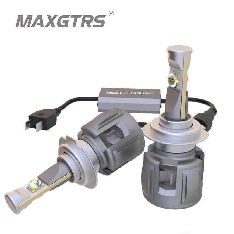 2x Car Headlight H7 H4 LED H8/H11 HB3/9005 HB4/9006 H1 9012 D1 D2 D3 D4 120W 12000lm Auto Bulb Headlamp ETI Chip 6000K Light