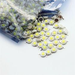 10-1000 шт светодиодный COB Чип лампы 1 Вт 3 Вт 3,2-3,6 В вход 100-220лм мини-светодиодная лампа диод SMD для DIY Светодиодный прожектор Прожектор Светильни...